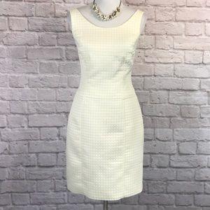 Yansi Fugel Yellow/white sheath dress, 10